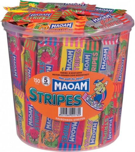 (5,05€/1kg) Haribo Maoam Stripes, Kaubonbon, 150 Stück