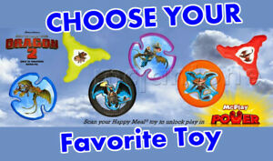 Mcdonald S 2014 How To Train Your Dragon 2 Frisbee Flyer Disc Fly Your Choice Ebay