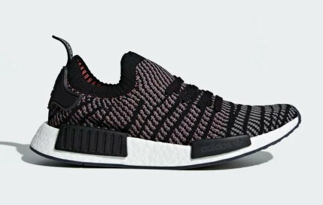 another chance 66bff f59a2 Adidas Men's NMD_R1 STLT Primeknit Running Shoes Core Black/Grey CQ2386 c