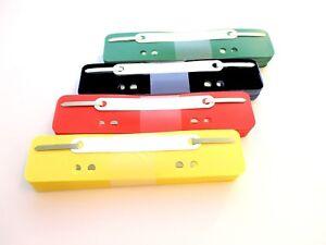 100-Heftstreifen-34-x-150-mm-PP-Folie-gelb-rot-schwarz-gruen