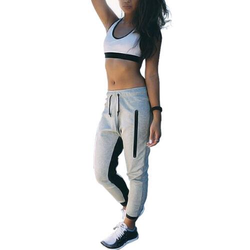 Women Casual Joggers Tracksuit Bottoms Trousers Gym Jogging Sweat Pants Slacks