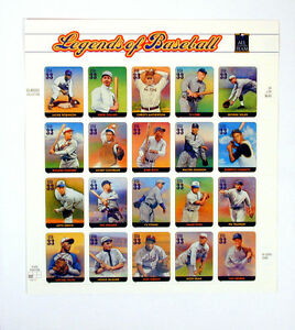 US-Postal-Service-Stamps-Legends-of-Baseball-All-Century-Team-Issue-2000