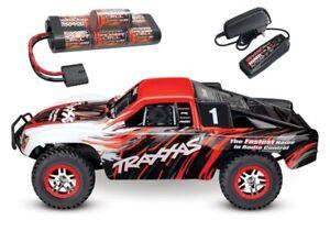 Traxxas-Slash-4x4-BRUSHLESS-TSM-Short-Course-Truck-mit-Akku-Lader-68086-4SET2