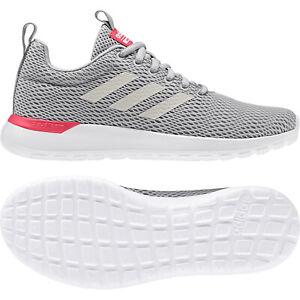 Details zu adidas neo Damen Runningschuh Lite Racer CLN grau/weiß/rot  (F34588)