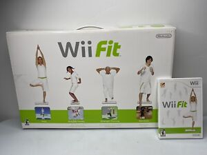Nintendo Wii Fit Game with Balance Board, Manual And Original Box