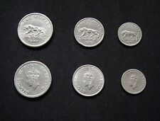 1947 Classic Coin Set.  2 Coins of Quarter Rupee, Half Rupee and One Rupee XF