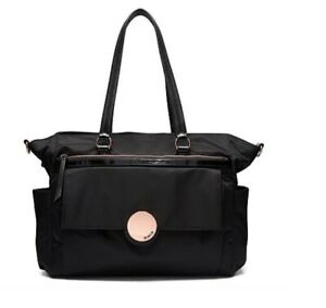 MIMCO-Waver-Baby-Bag-Nappy-Large-Black-Nylon-Rose-Gold-Hardware-BNWT-RRP-299