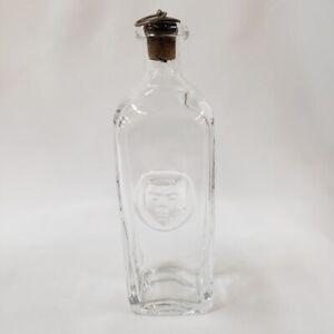 Decanter-w-Face-Erik-Hoglund-Sweden-Kosta-Boda-Glass-Liquor-Alcohol-Bar-Rare-Old