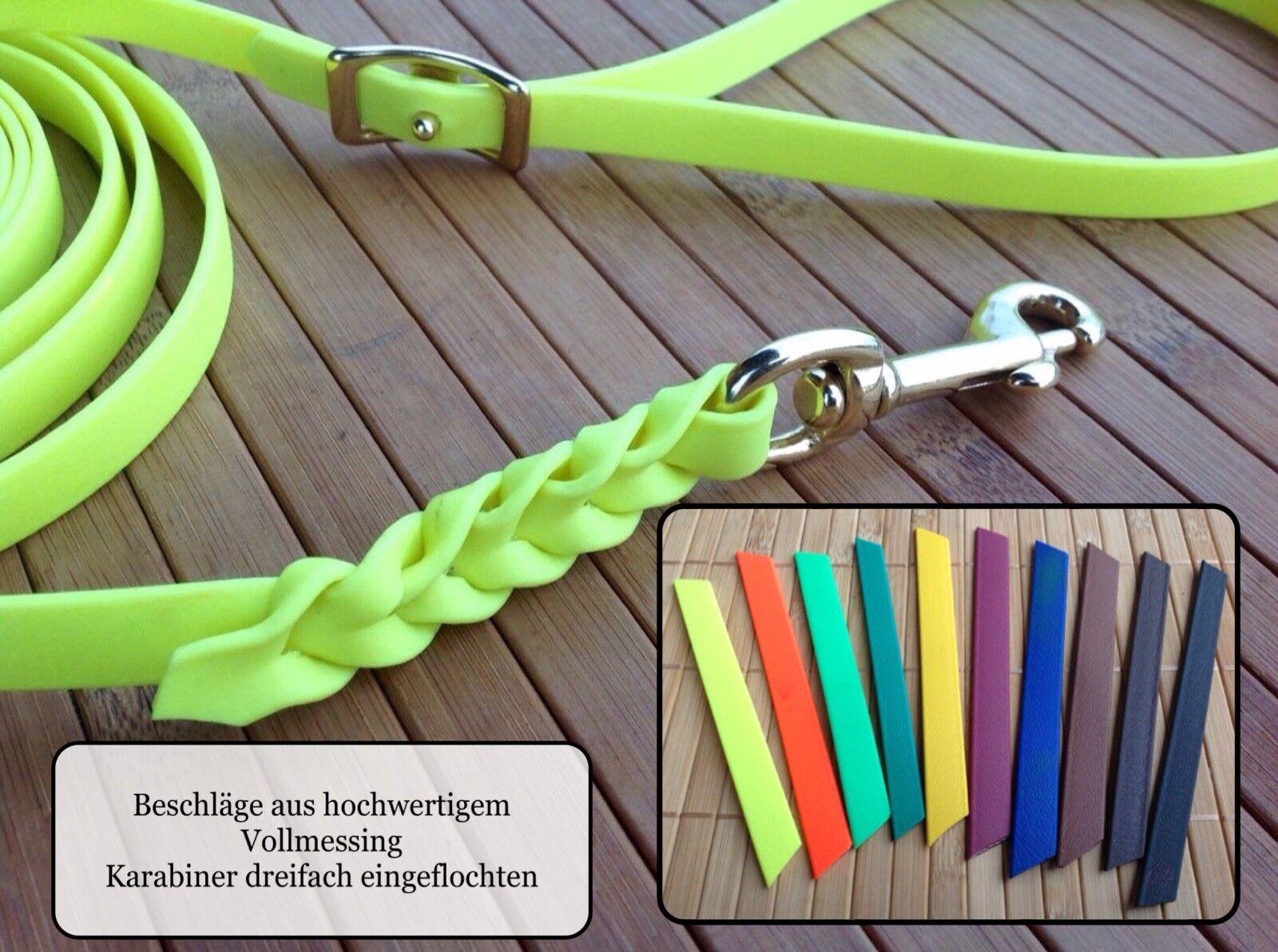 Biothane Schleppleine Fährtenlein Breite 13 mm  Farbauswahl Länge von 3 bis 25 m  | Sonderkauf