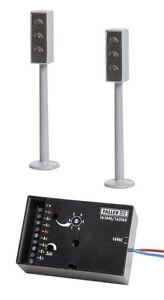 FALLER-161840-2-LED-Ampeln-mit-Elektronik-Car-System-H0
