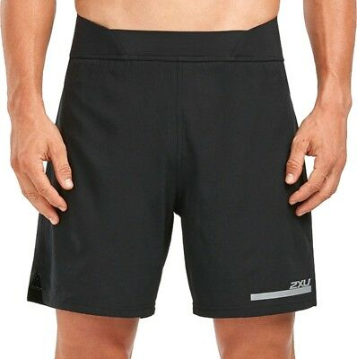 2xu 7 Inch Compression Mens 2 In 1 Running Shorts - Black Rheuma Lindern
