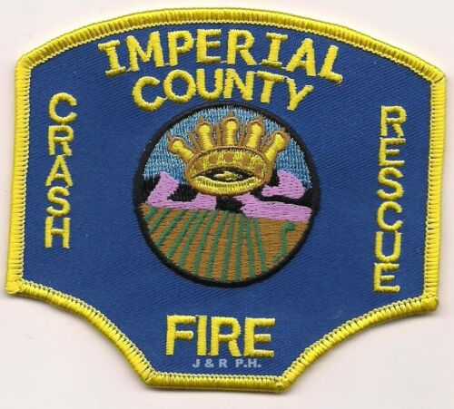 """fire patch California Imperial County  C.F.R. 4/"""" x 3.5/"""" size Airport"""