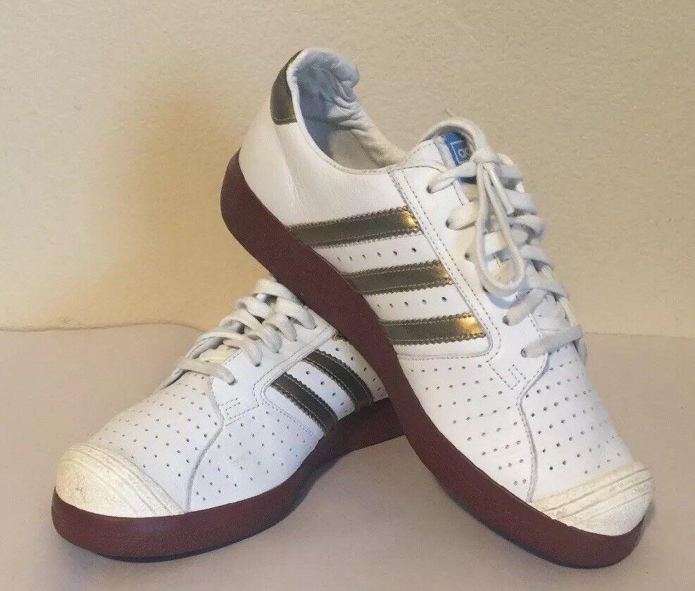 adidas 2006 forest hills 72 white schuhe & gold retro - schuhe white tennys größe 8 1 / 2 fcee6f