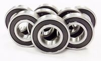 (8) 6205 Rs C/3,snowmobile Bearings, Emq, 25x52x15 6205-2rs C/3 (blk)(3o167)