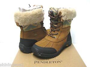 b2ad2966da5 Details about UGG ADIRONDACK PENDLETON WOMEN WINTER BOOTS CHESTNUT US 7 /UK  5.5 /EU 38 /JP 24