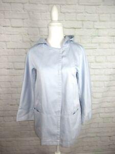 J-Jill-women-039-s-size-XS-Light-Blue-Hooded-Light-Weight-Spring-Canvas-Jacket