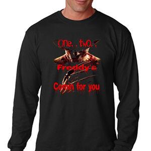 e246885d505 Freddy Krueger  A Nightmare on Elm St. Mens Long Sleeve Black T ...