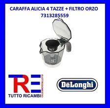 CARAFFA CAFFETTIERA ALICIA 4 TAZZE + FILTRO ORZO DE LONGHI ORIGINALE 7313285559