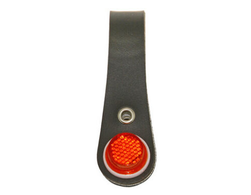 Lowrider Black BlCYCLE BlKE Hub Shiner FAUX LEATHER RED REFLECTORS STYLE