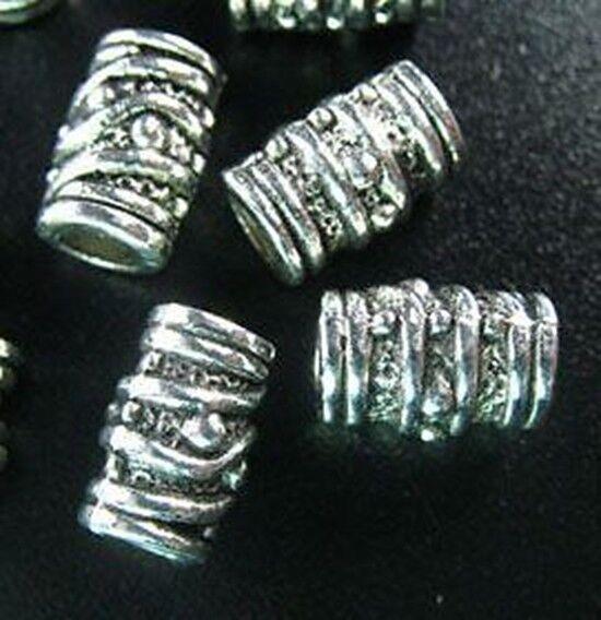 40pcs Tibetan Silver Screw Barrel Spacer Beads T420