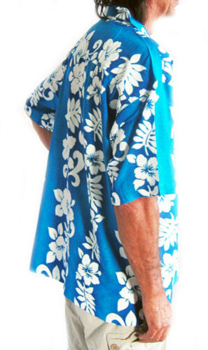 LOUD HAWAIIAN SHIRT WITH HIBISCUS FLOWERS in rows STAG NIGHT HOLIDAY PARTY NEW