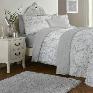 Dreams-amp-Drapes-LARGE-PAISLEY-Grey-200TC-Cotton-Rich-Duvet-Cover-Set-Bedding