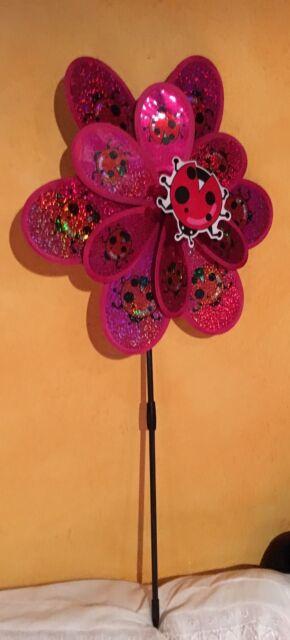 Blumen Rad Windrad - Blume Rund 37 Cm / Winddreher / Ovp
