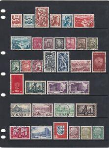 Germany Saar Broad Stamp Mix Mint & Used As Scans (4 Scans)