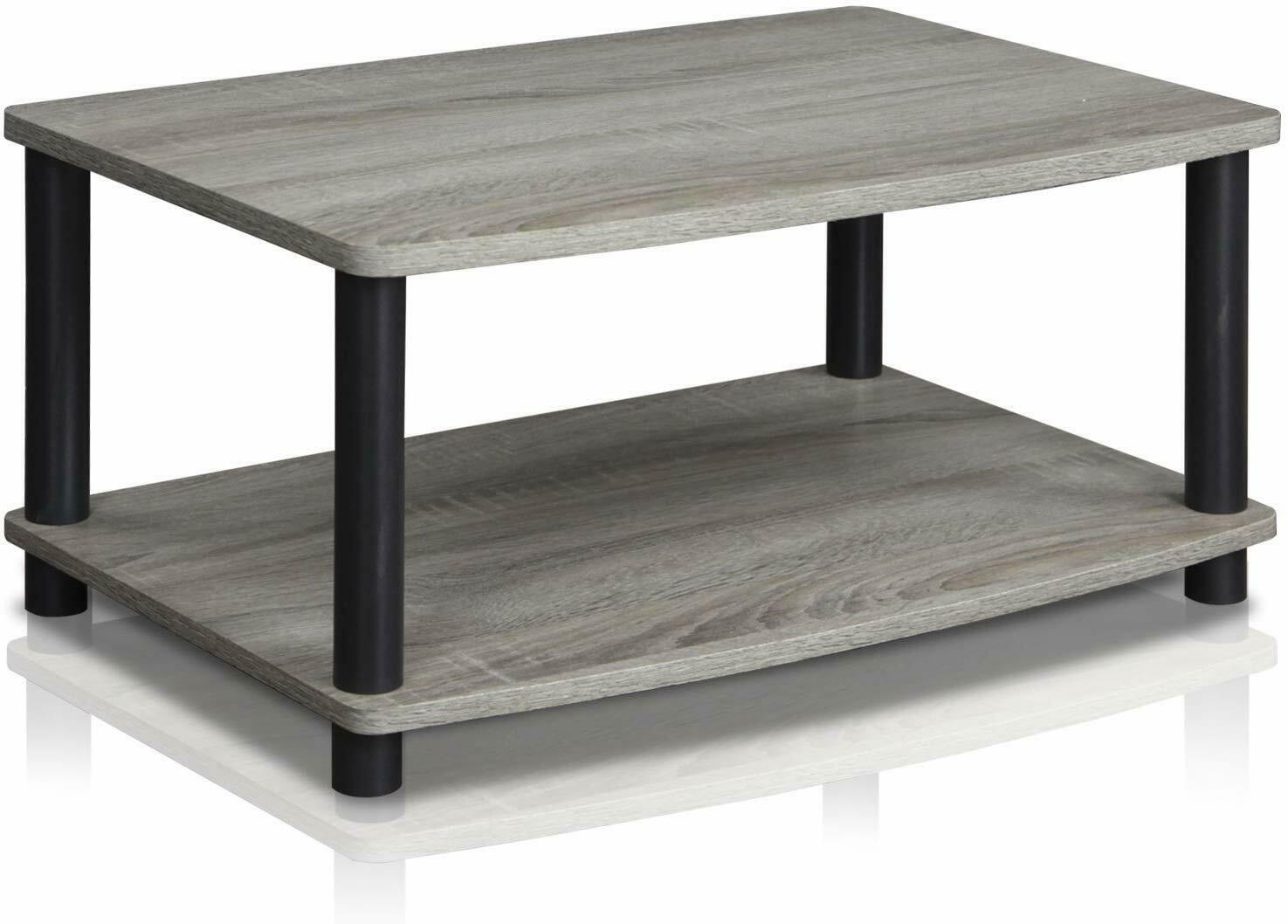 Modern Rustic Tv Stand Coffee Table Small Wood End Storage Living