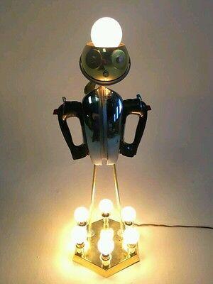 Vintage Iron Robot Atomic Ufo Light Lamp Sputnik Eyeball Chandelier Torino Brass Ebay
