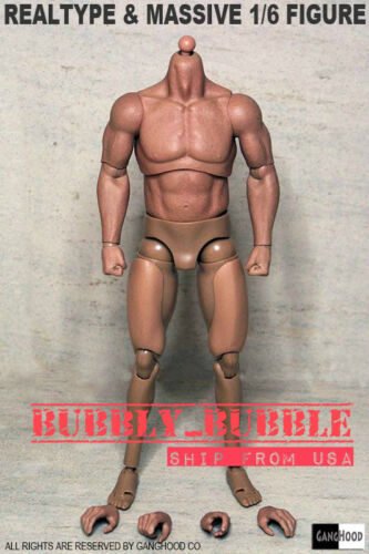 1//6 Emulated Muscular Body GangHood For Hot Toys Bane Arnold Head SHIP FROM USA