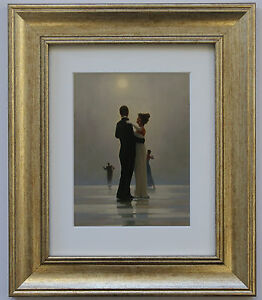Dance-Me-To-The-End-of-Love-by-Jack-Vettriano-Framed-amp-Mounted-Art-Print-Gold
