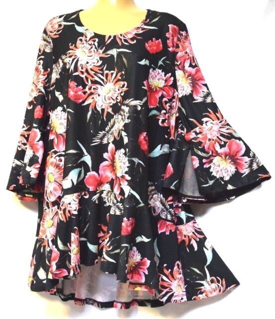 TS top VIRTU TAKING SHAPE plus sz S / 16 Oriental Nights Top floral NWT rp$110!