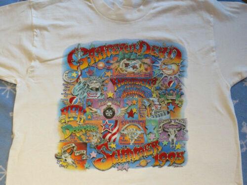 Vintage Grateful Dead 1995 Summer Tour Cotton White Men T-Shirt S-5XL 185392