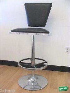 Surprising Details About Haziza Acrylic And Black Vinyl Trigo Bar Stool Customarchery Wood Chair Design Ideas Customarcherynet