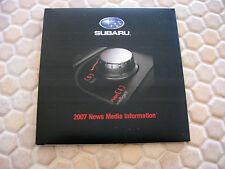 SUBARU OFFICIAL FULL LINE PRESS BROCHURE VIDEO CD ROM 2007 USA EDITION
