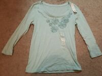 Taylor Marcs Women's Long Sleeve Blouse/shirt/top, Size Sm.,