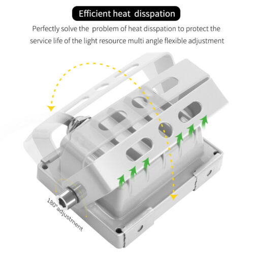 4X 10W LED Floodlight LEMBRD Cool White Outdoor Garden Lighting Security Lights