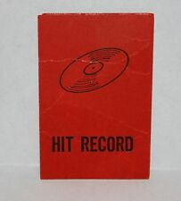 BEATLES FLIP YOUR WIG 1964 GAME PARTS - Hit Record Card