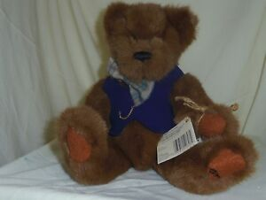 Jefferson Ganz Cottage Collectibles 13in brown yesno teddy bear in vest CC1202 - Catskill, New York, United States - Jefferson Ganz Cottage Collectibles 13in brown yesno teddy bear in vest CC1202 - Catskill, New York, United States
