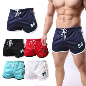 Men-039-s-Workout-Sports-Gym-Shorts-Running-Jogging-Mesh-Beach-Trunks-Breathable