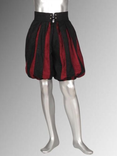Striped Medieval Swiss Guard Pants Handmade from Suede