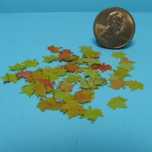 Dollhouse miniature Thanksgiving GIVE THANKS 1:12 sign leaves Fall home decor