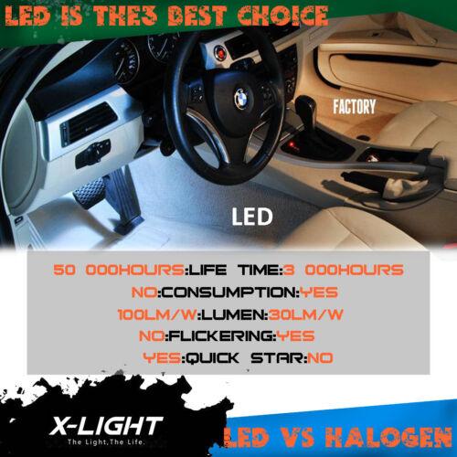 24pcs Ice Blue for BMW F10 Saloon F11 Es Error Free LED Full Interior Light Kit