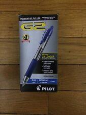 Pilot G2 12-Pack Blue Retractable Premium Gel Ink XFine Point Roller Ball Pens