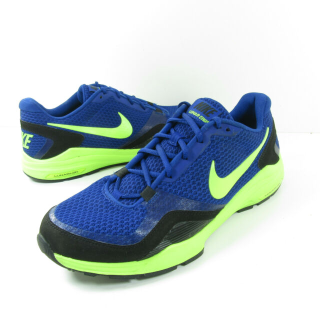 el estudio Ir a caminar Becks  Nike Mens Rosherun Size 12 Military Blue Turbo Green Running Shoe 511881  400 for sale online   eBay