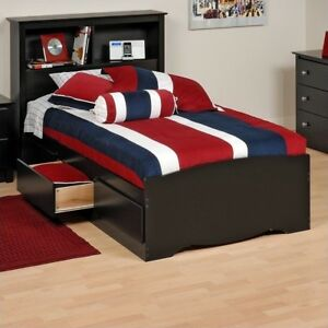547050d3aa19d Buy Prepac Black Twin Mate S Platform Storage Bed With 3 Drawers ...
