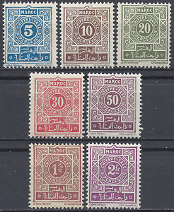 FRANCE-COLONIE-MAROC-MOROCCO-TAXE-N-28-34-NEUF-LUXE-MNH