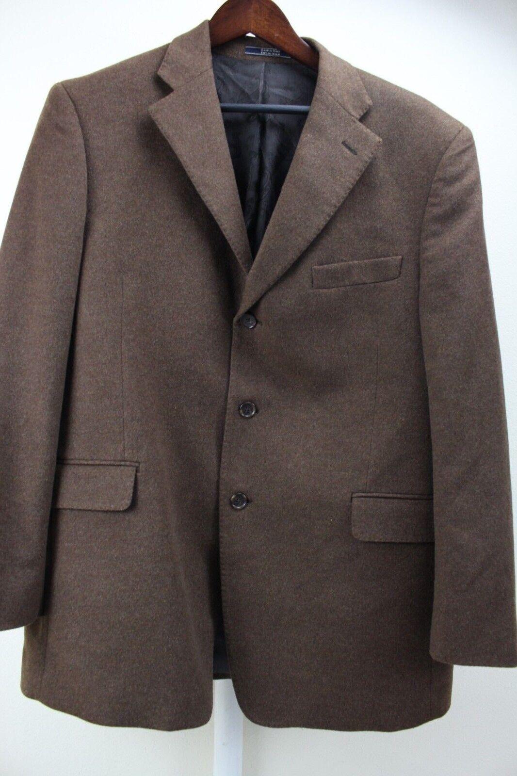 Arnold Brant Colombo Cashmere & Mink Blend Braun 3 Button Lined Blazer Größe 44R