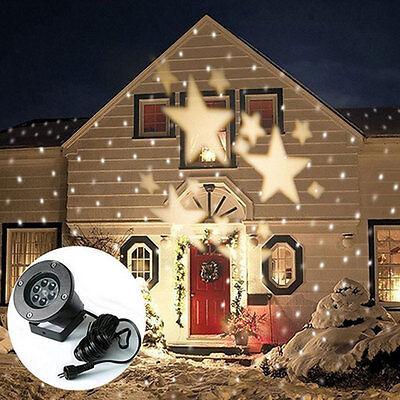 Outdoor Xmas Starry Sparkling LED Christmas Laser Light IP65 Warm White Decor